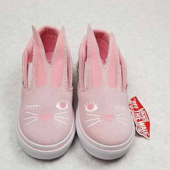 e11f1a9bc7 Vans Slip-on Bunny Shoes Chalk Pink and White